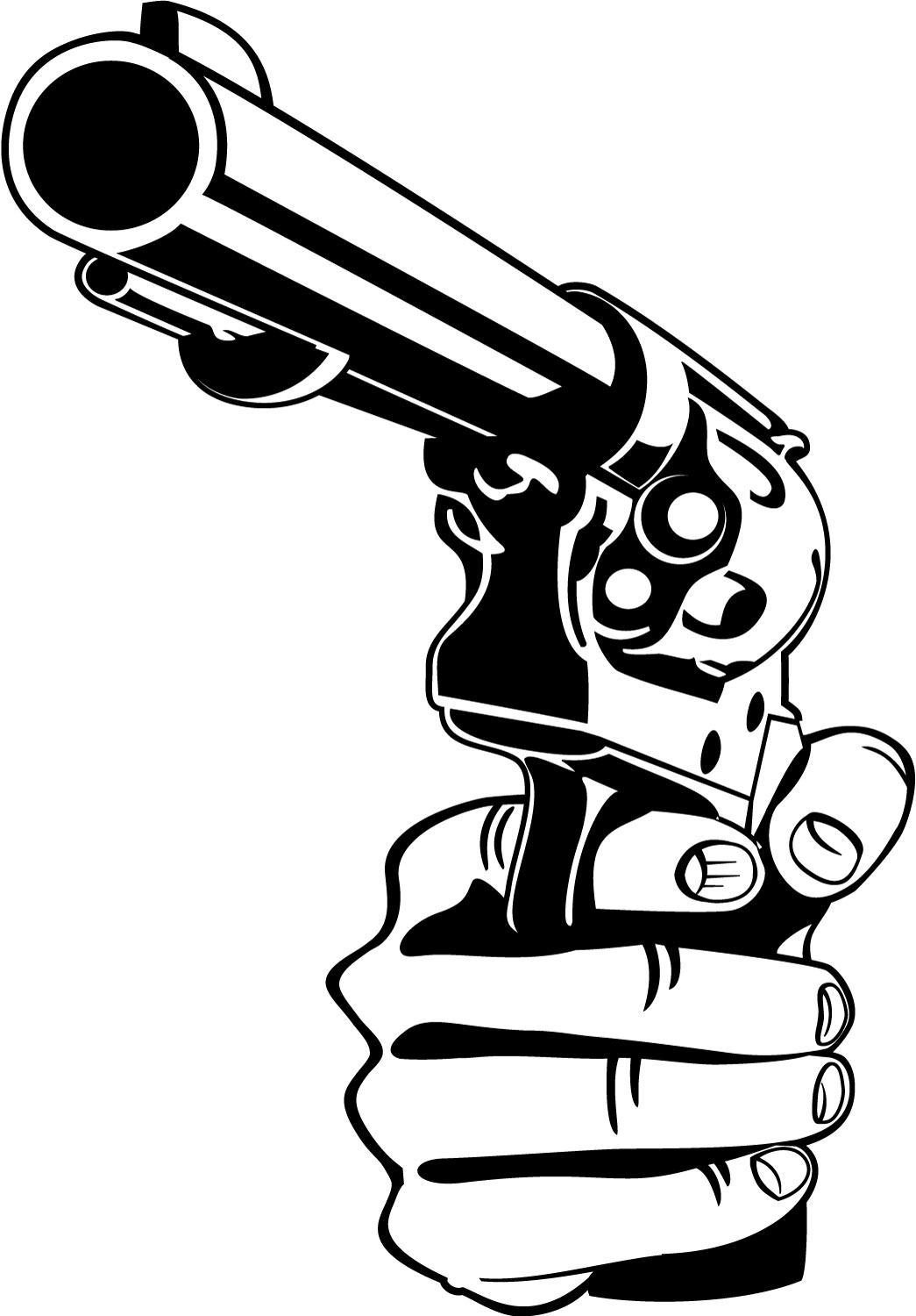 photograph regarding Gun Stencils Printable known as Tattoo Gun Drawing at  Cost-free for person