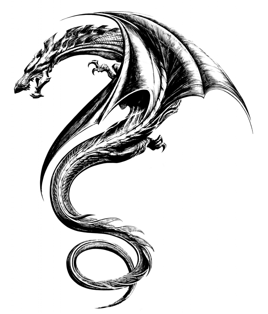 874x1024 Dragon Tattoo Drawings 60 Awesome Dragon Tattoo Designs For Men