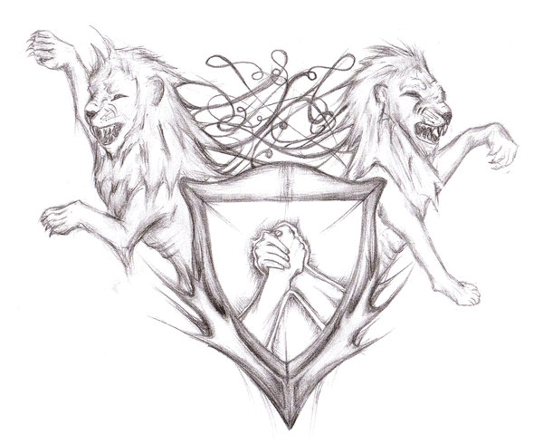 600x490 Shield Tattoo Designs Lions Shield Tattoo Design By Shield