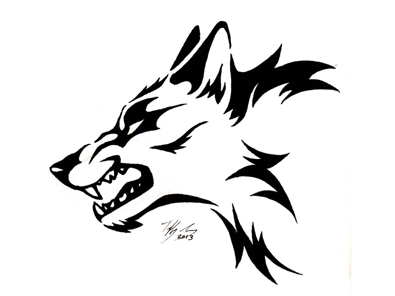 1280x960 Tribal Wolf Drawing Tribal Wolf Tattoos Designs And Ideas