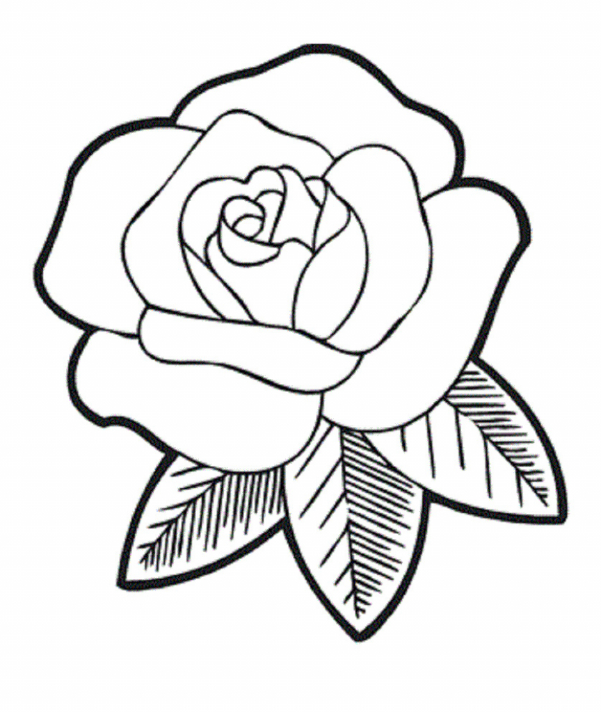 864x1024 Simple Rose Drawing How To Draw A Simple Rose Tattoo Design