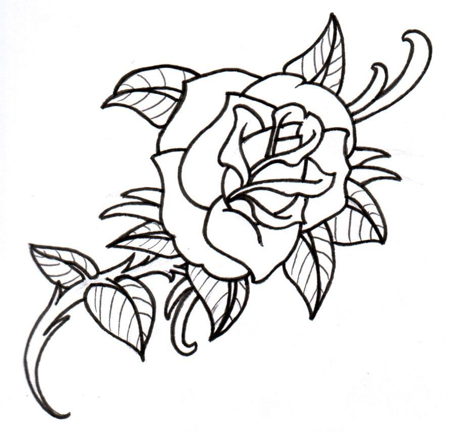 900x855 Rose Tattoo Outline Tattoo Designs Tattoos
