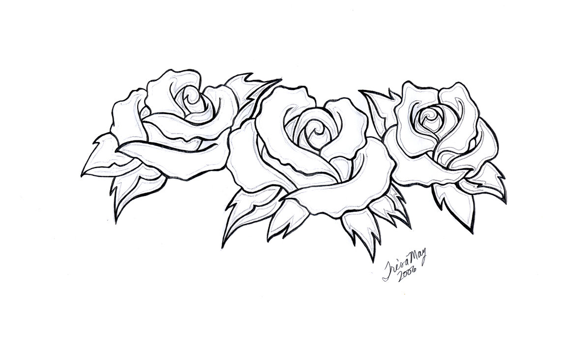 1141x700 Three Roses Tattoo Design By Tailormaid