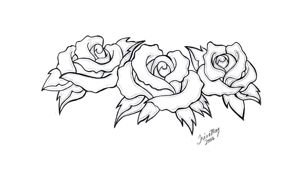 Tattoo Rose Drawing At Getdrawings Free Download