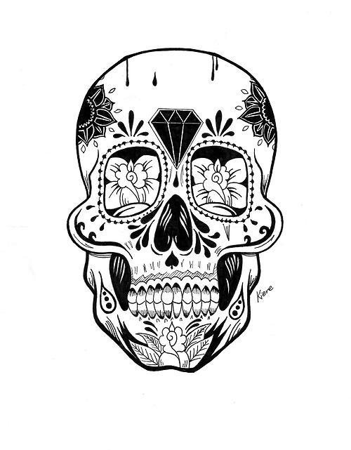 500x641 Mexican Skull Tumblr Shared By Ainoa On We Heart It