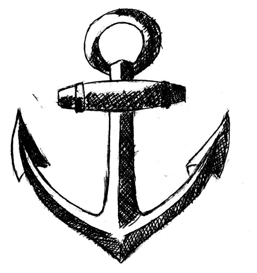 867x921 Drawing Simple Anchor Drawing Tumblr With Simple Anchor Tattoo