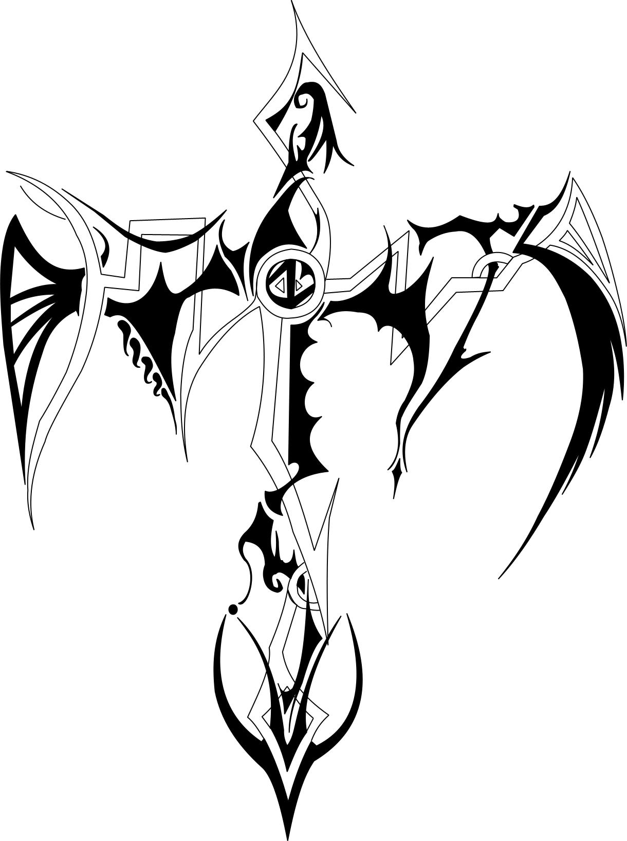 1220x1635 Collection Of Nice Cross Tattoo Drawing
