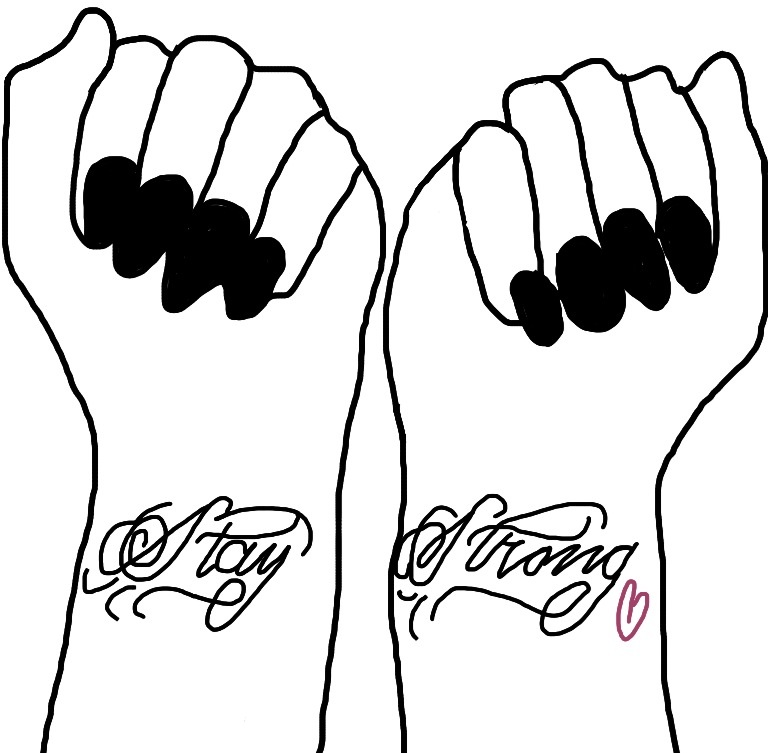 768x753 Demi Lovato Stay Strong Tattoos Drawing By Fichibi5