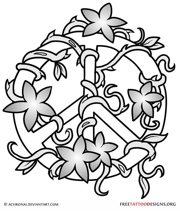 598x700 50 Peace Sign Tattoos
