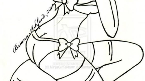 570x320 Pin Up Line Drawing 30 Awesome Pin Up Girl Tattoos Drawings