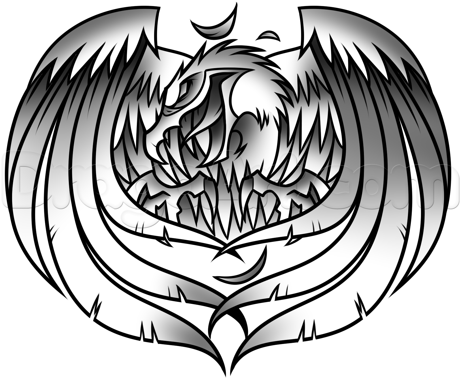 1600x1310 Black And White Eagle Drawing White Eagle Tattoo Drawing, Step By