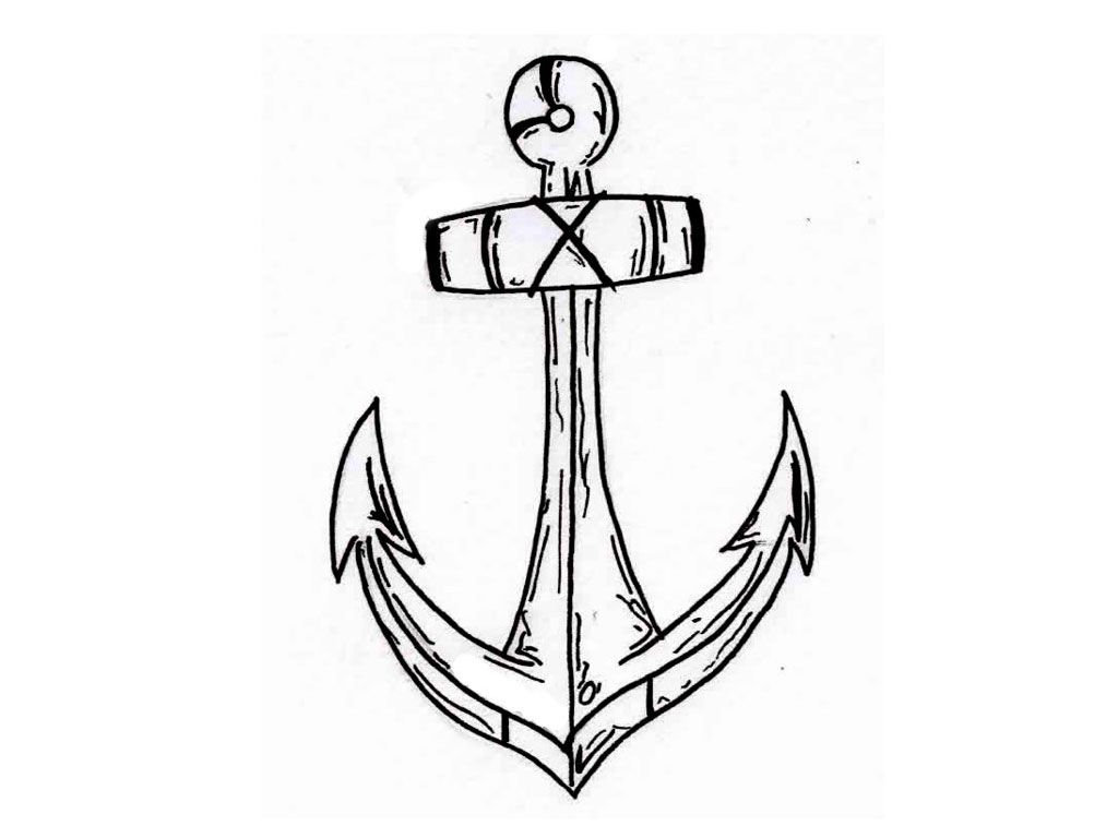 1024x768 Drawing Simple Anchor Tattoo Designs With Simple Anchor Drawing