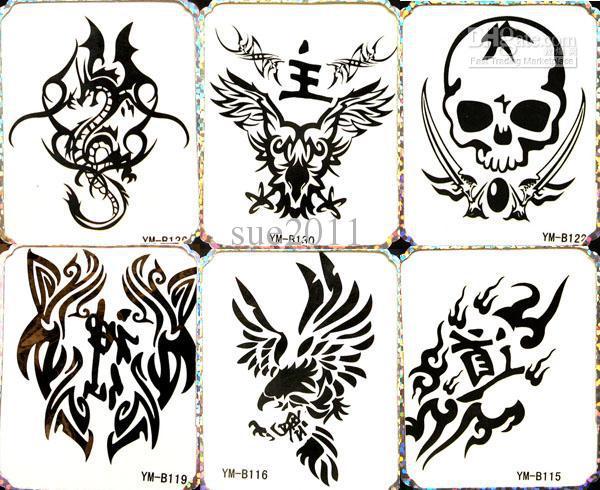 600x490 Temporary Tattoo Waterproof Body Tattoo Stickers 12 Mix Designs