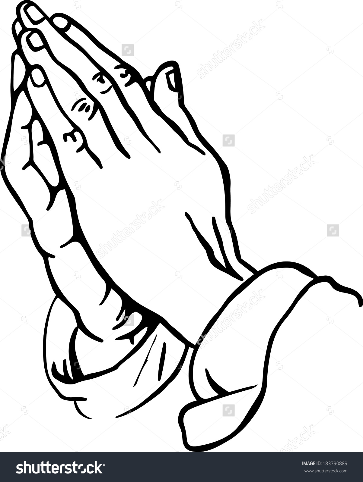 how to draw praying hands emoji step by step
