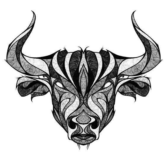564x564 Taurus The Bull Head Tattoo Design Taurus Bull, Taurus And Drawings