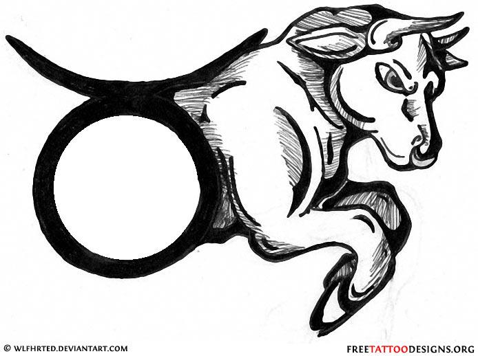 694x518 Bull Taurus Tattoo Design