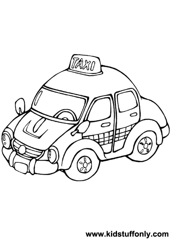 Vector Illustration Yellow Taxi Stock Vector 17005774 ... |Yellow Taxi Cab Drawing