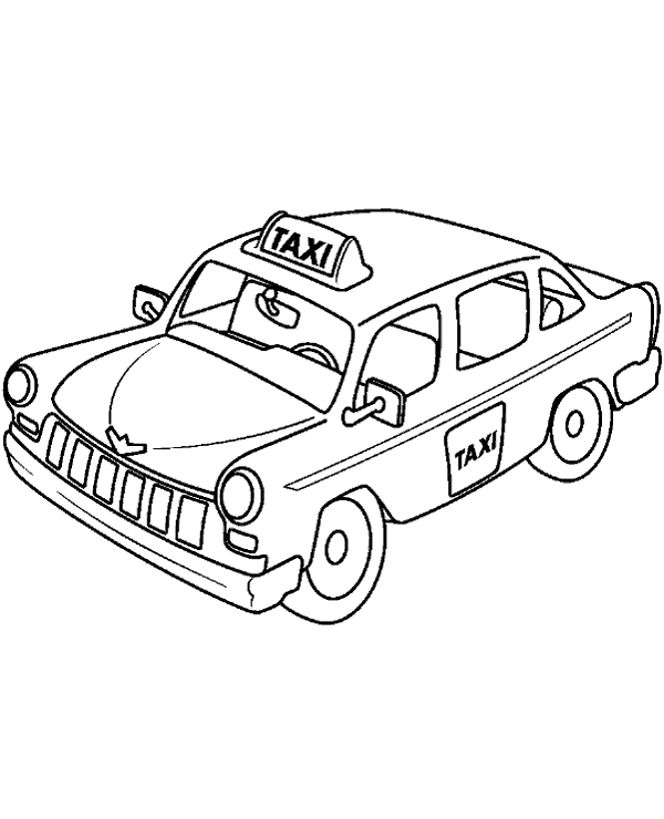 Vector Clip Art of yellow taxi cab over white csp14616616 ... |Yellow Taxi Cab Drawing