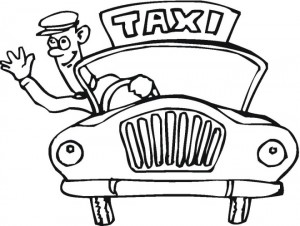 300x226 Taxi Cab Driver Coloring Pages For Preschoolers
