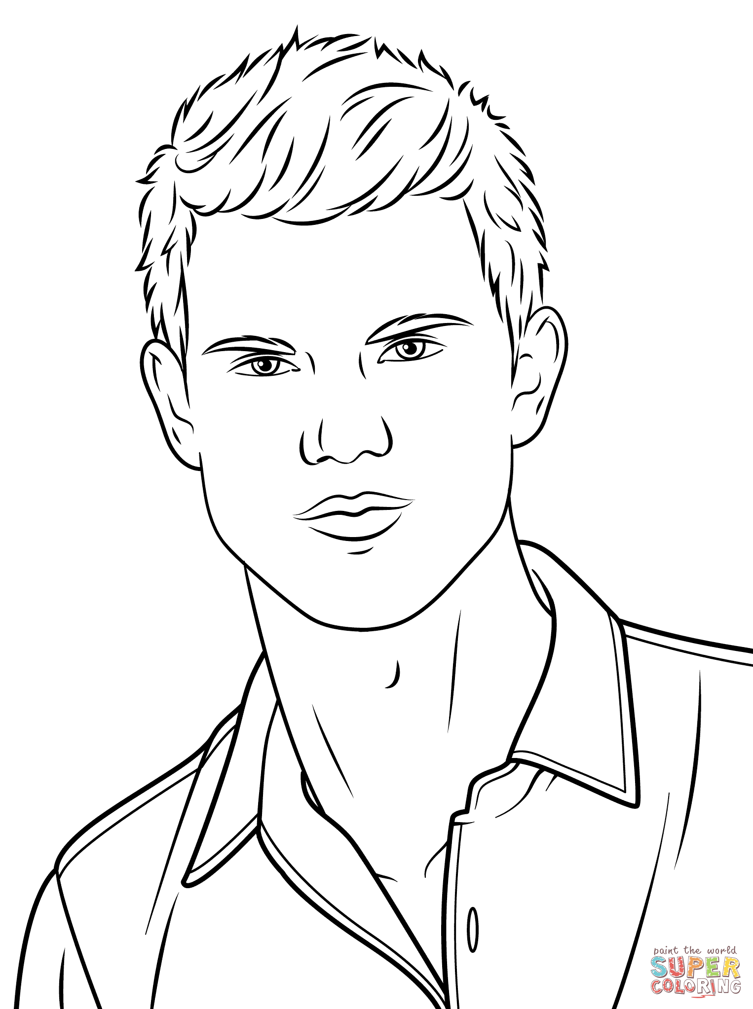 1526x2046 Affordable Taylor Lautner Coloring Page In Taylor Swift Coloring