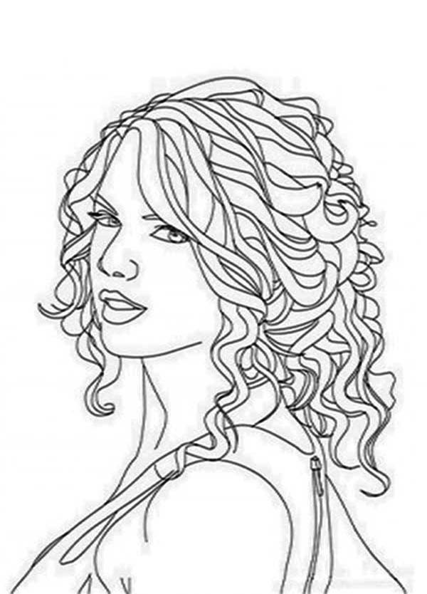 Taylor Swift Drawing at GetDrawings.com | Free for personal use ...