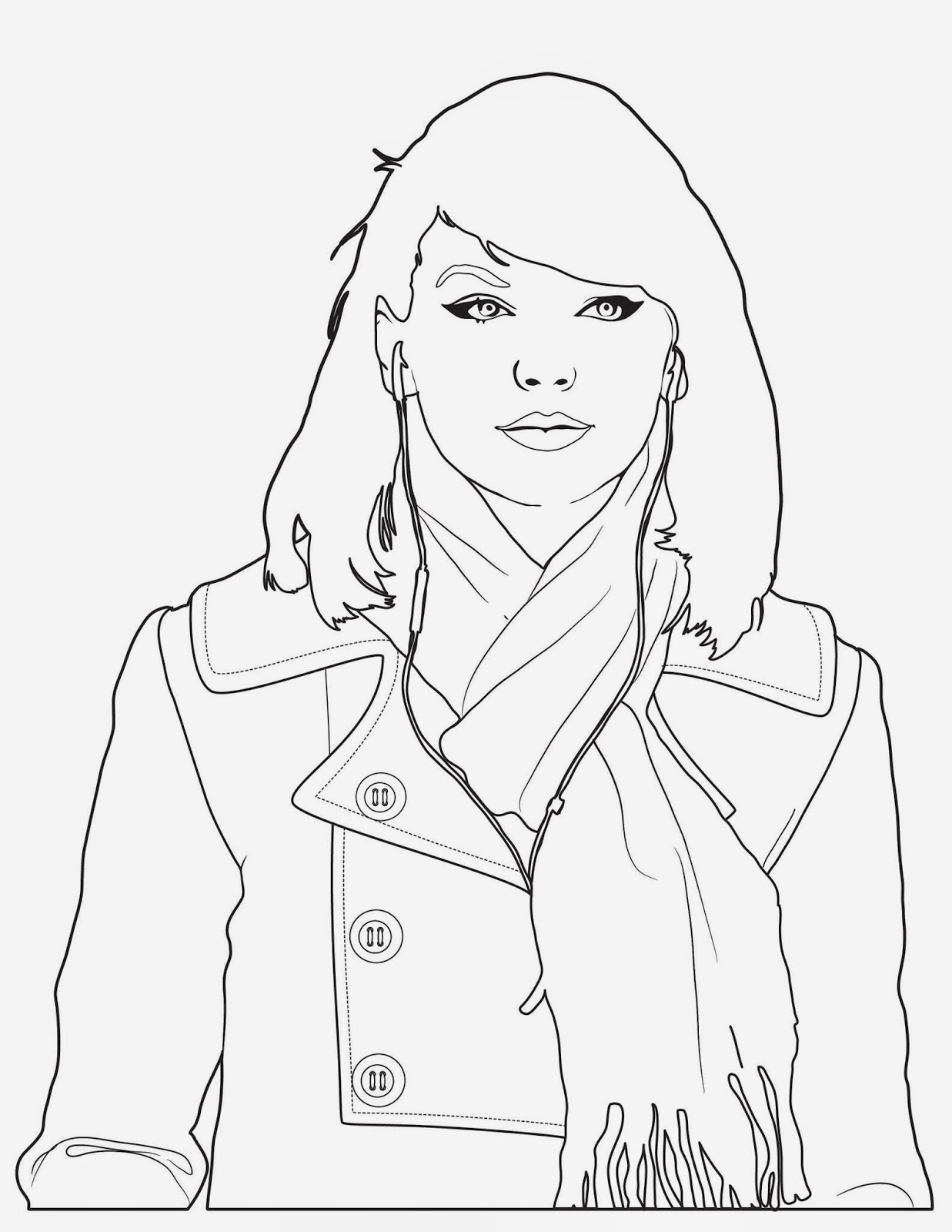 Magnificent Celebrity Coloring Pages Taylor Swift Pictures ...