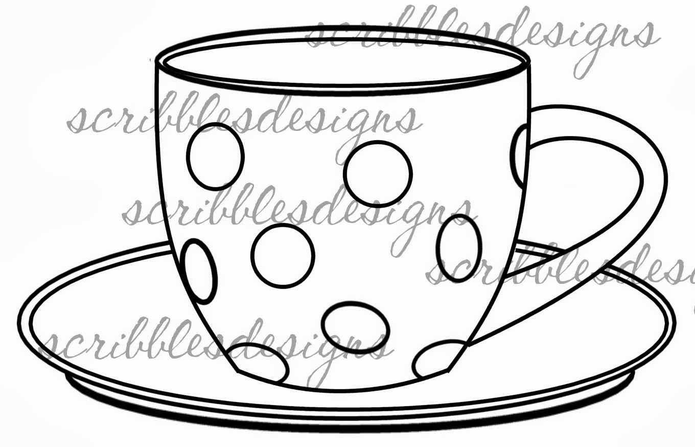 1360x874 Drawing Of A Teacup Drawn Tea Cup Tea Party