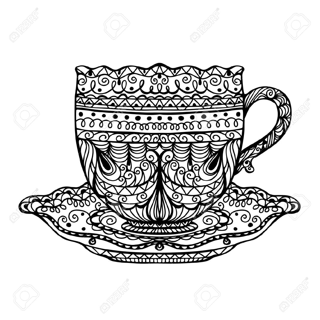 1300x1300 Drawing Of A Teacup How To Draw Teacups (And Other Ellipses)