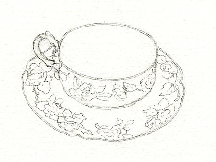 440x330 How To Draw A Tea Cup (Beginning) Sketch2drawcom, Tea Cup Sketch