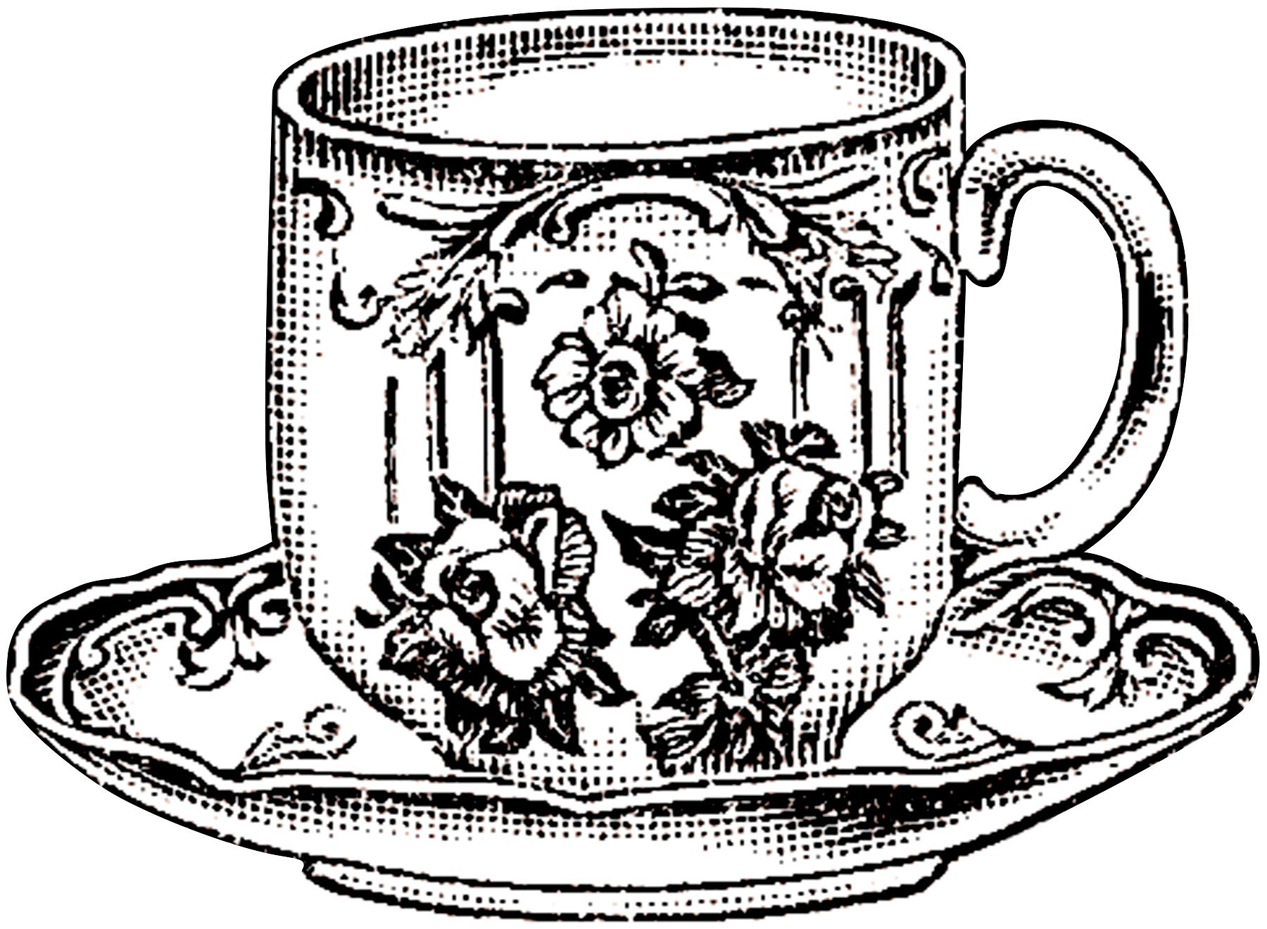 1800x1320 Vintage Floral Teacup Picture!
