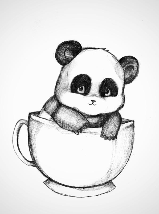 675x909 Baby Panda In Teacup By Dren98