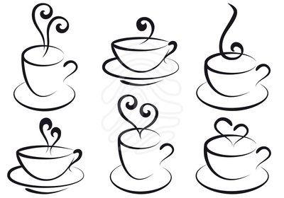 400x280 Drawn Tea Cup Coffee Cup