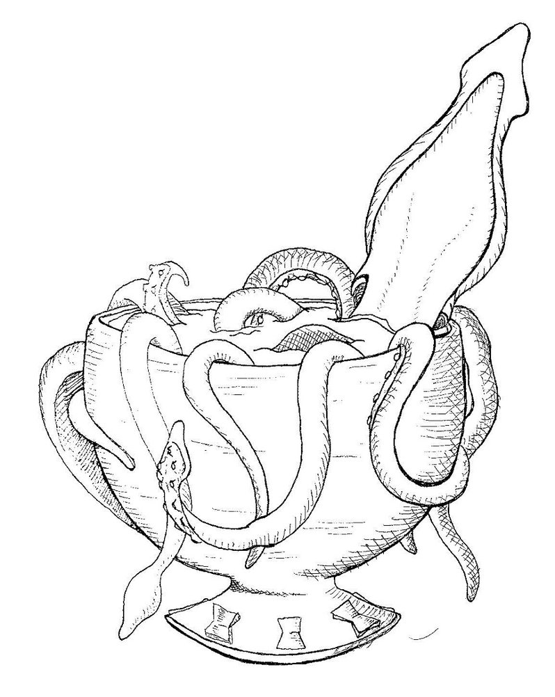798x1002 Kraken In Teacup By Daze Dreams