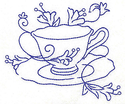 400x333 Teacup With Flowers Largeltbrgt 4.59w X 4.02h, John Deer's Ultimate
