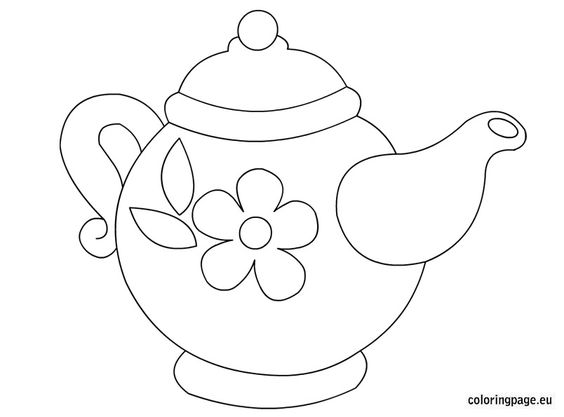 564x417 Sketching A Teacup Teapot, Template And Embroidery