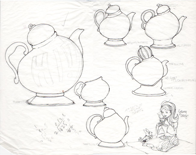 650x517 Drawn Teapot Alice In Wonderland