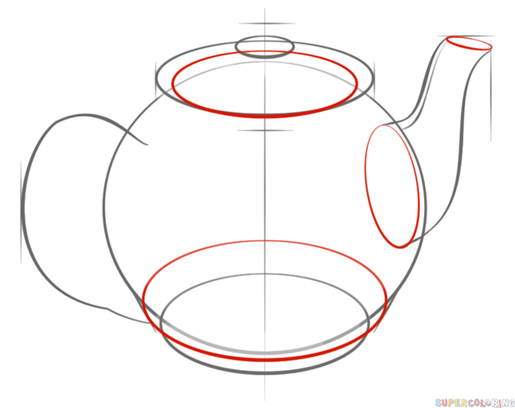 725x575 How To Draw A Teapot Step By Step. Drawing Tutorials For Kids