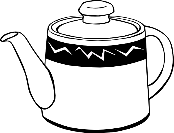 600x459 Tea Pot Clip Art Free Vector 4vector
