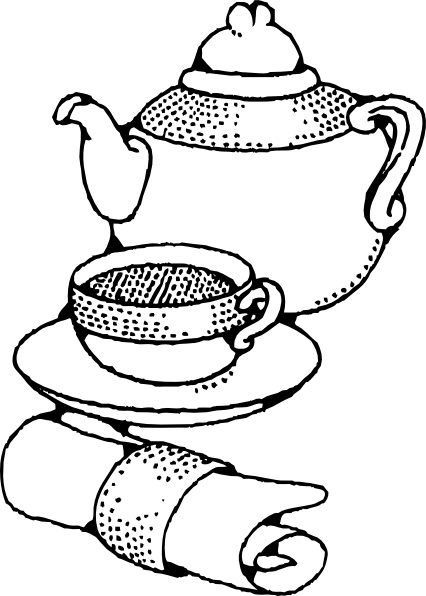 426x596 Teapot And Cup Clip Art Free Vector In Open Office Drawing Svg