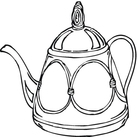480x480 Teapot Coloring Page Free Printable Coloring Pages