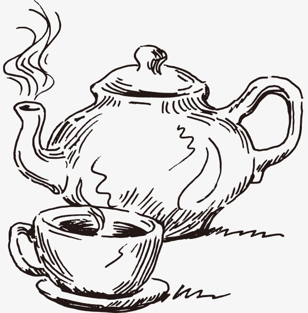 600x609 Vector Sketch Teapot, Vector, Sketch, Teapot Png And Vector