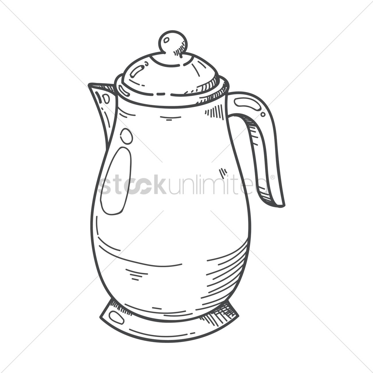 1300x1300 Coffee Pot Vector Image