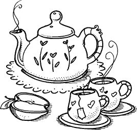 Tea Set Drawing