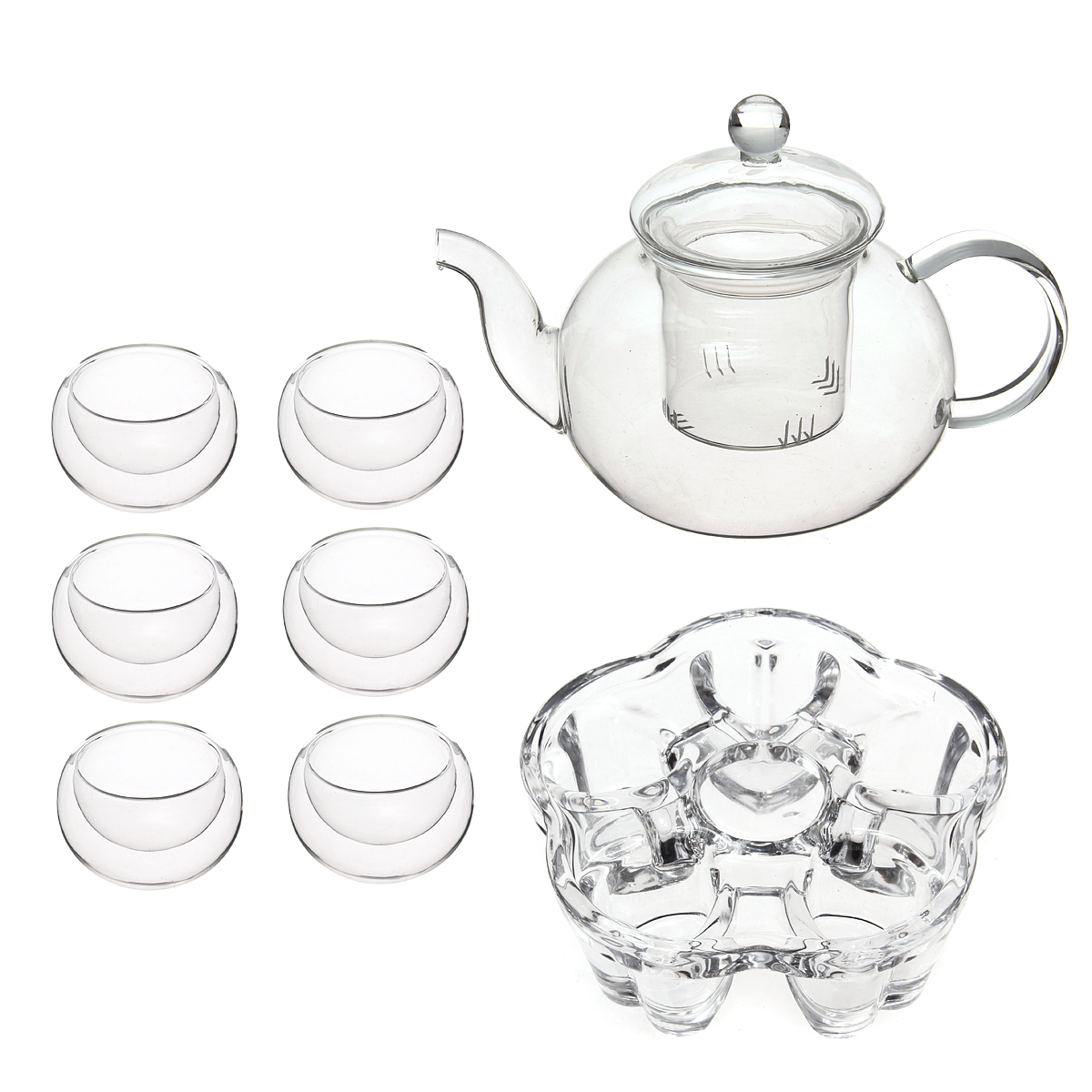 1200x1200 Chinese Gongfu Glass Tea Pot Set With Infuser Filter Tea Light