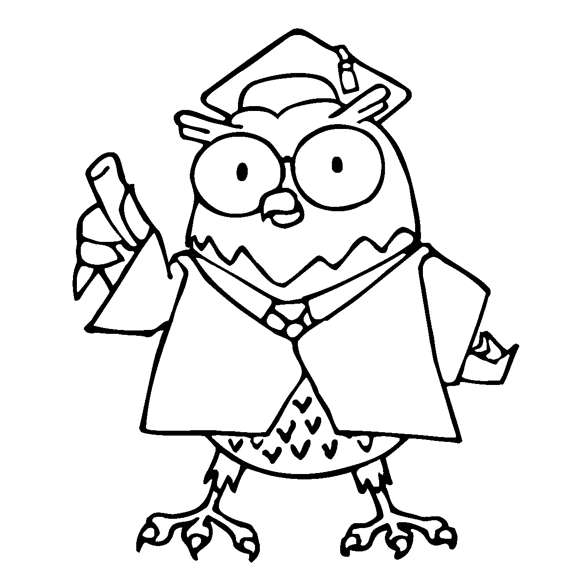 1200x1200 College Student Boy Caricature Coloring Page Free Printable
