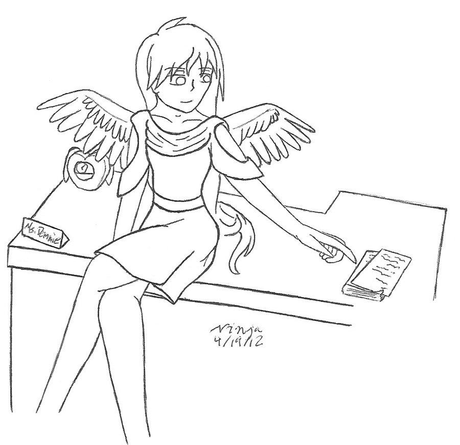 900x870 Being A Teacher By Weird Anime Girl