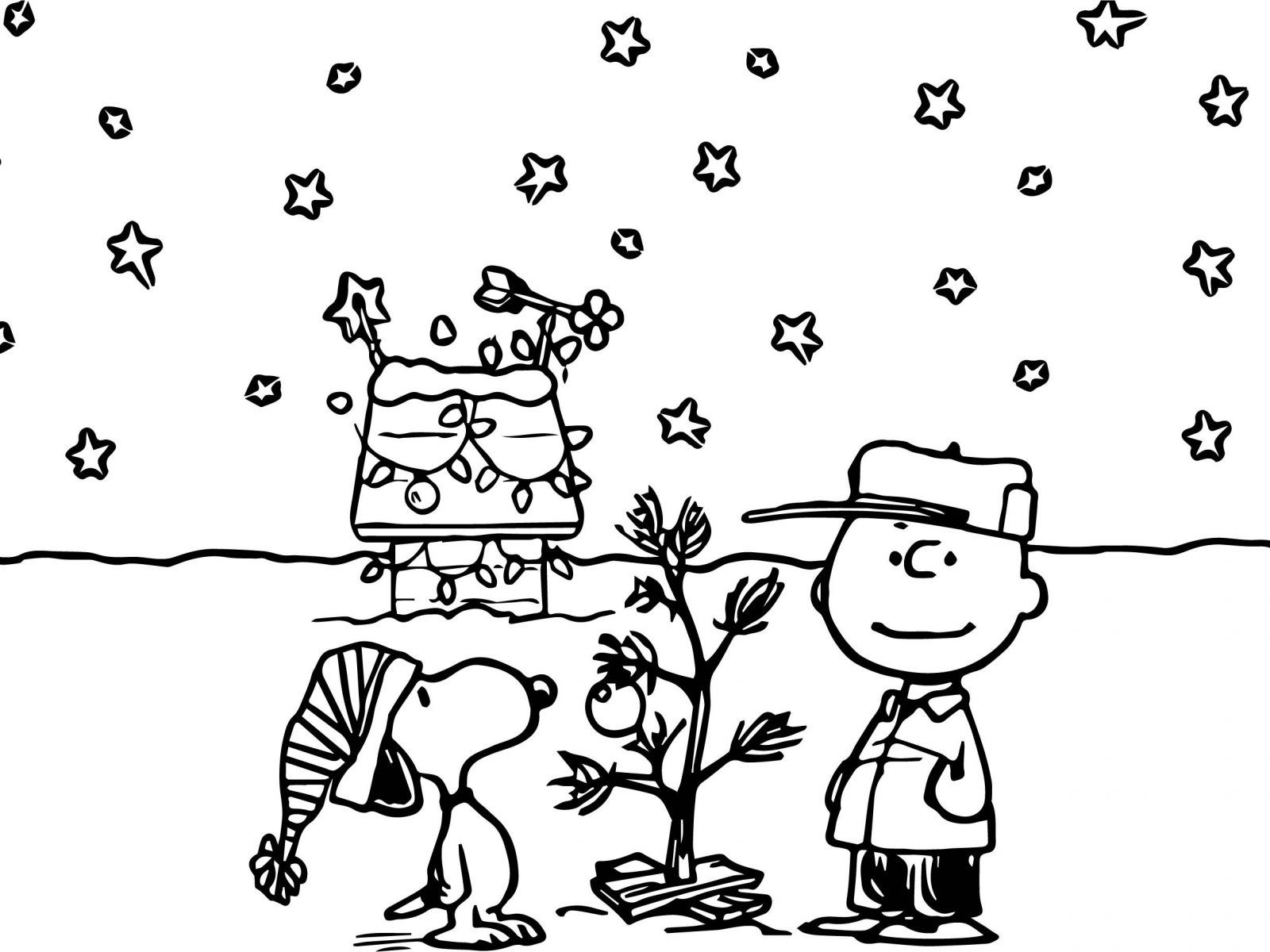 1600x1200 Extraordinary Peanuts Snoopy Gang Coloring Pages Printable Cartoon