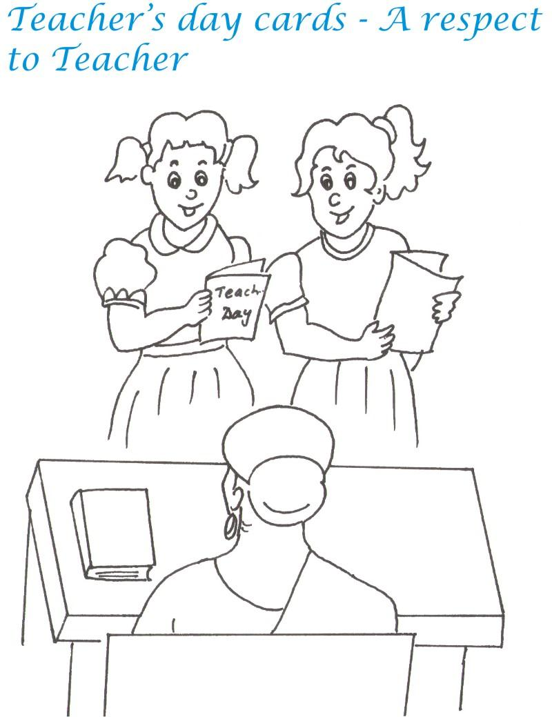 800x1039 Teacher's Day Printable Coloring Page For Kids 6