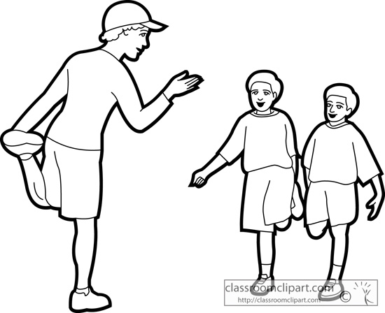 550x448 School Clipart Physical Education Teacher Outline 01
