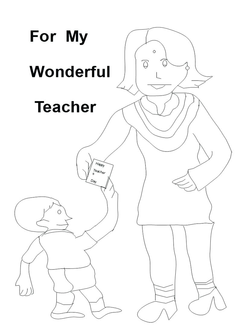 815x1100 Coloring Teachers Day Coloring Pages